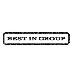 best in group watermark stamp vector image