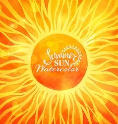 Bright summer sun background vector