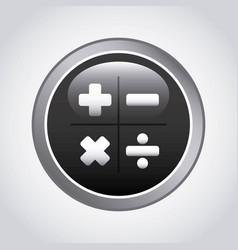 calculator app icon design vector image