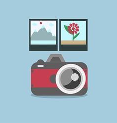 Camera and photo vector