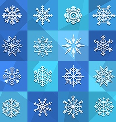 Different snowflakes set vector image vector image