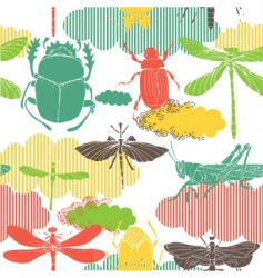 Garden insects vector