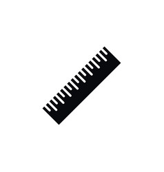 isolated length icon ruler element can be vector image vector image