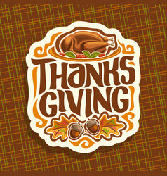 Logo for thanksgiving day vector