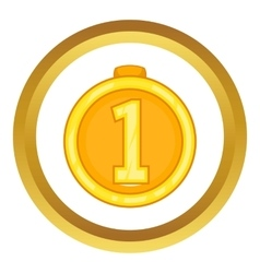 Medal for first place icon vector