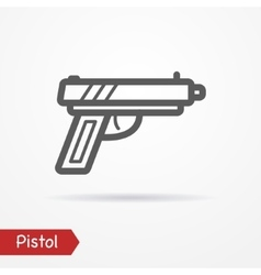 Pistol silhouette icon vector image vector image