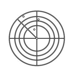 Radar black color icon vector