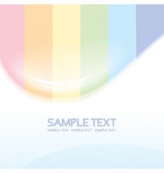 rainbow drop vector image vector image