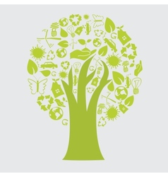 Recycle tree vector image
