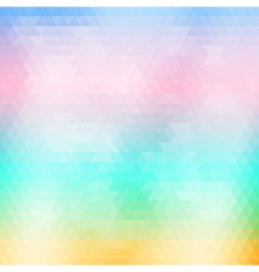 Soft colored abstract geometric background vector image