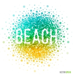 Summer beautiful design element for greeting card vector image