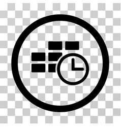 Time table rounded icon vector
