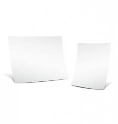 two empty sheets of paper vector image vector image
