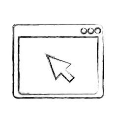Web browser window vector