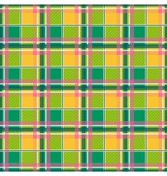 Yellow green pink chessboard background vector