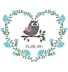 Card with owl vector image