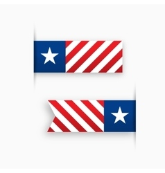 USA paper tags star and stripes vector image