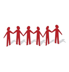 Red Man Paper People vector image