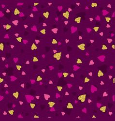 Purple seamless background with golden and pink vector