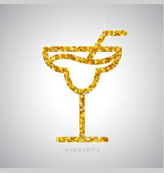 Golden cocktail flat icon margarita vector