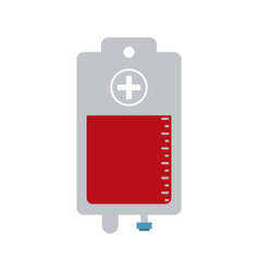 blood bag icon image vector image