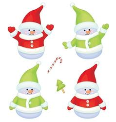 snowmen vector image
