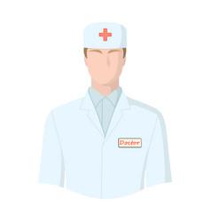 the man is a doctor in uniform medicine single vector image