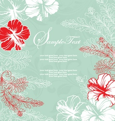 Bridal shower invitation card vector