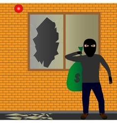 Thief with sack vector