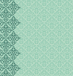 seamless baroque damask pattern vector image