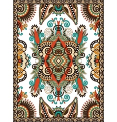 Ukrainian floral carpet design for print on canvas vector