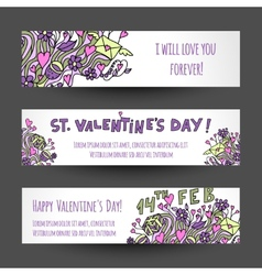 Love banners design vector