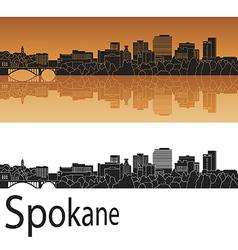 Spokane skyline in orange vector image