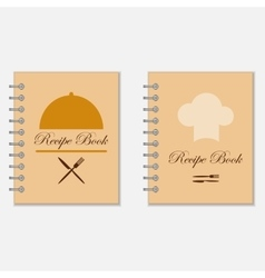 Recipe book designs vector