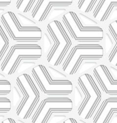 3d white rounded grid with gray stripes vector