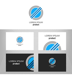 Business logo round icon vector