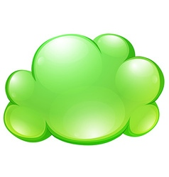 Green fluffy cloud on white vector