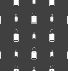 Army chains icon sign seamless pattern on a gray vector