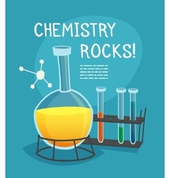 Chemical laboratory cartoon concept vector