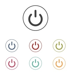 On off switch icons set vector