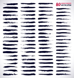 80 GRUNGE BRUSHES vector image
