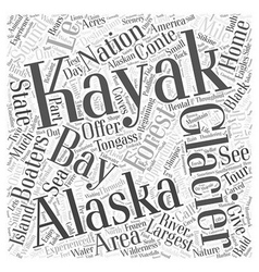 Alaska kayaking destinations offer something for vector