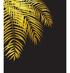 Beautifil palm tree leaf silhouette background vector