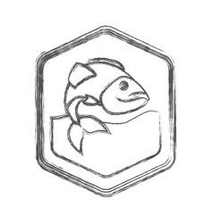 Blurred sketch silhouette of diamond shape emblem vector