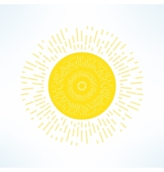 bright sun in modern flat design Hot solar vector image