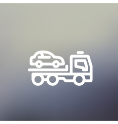 Car Towing Truck thin line icon vector image