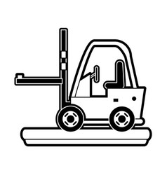 cargo forklift vehicle vector image