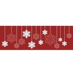 Christmas hanging snowflake vector