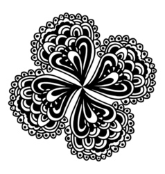 circle flower ornament vector image vector image