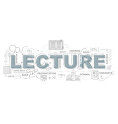 creative of lecture with line icon vector image vector image